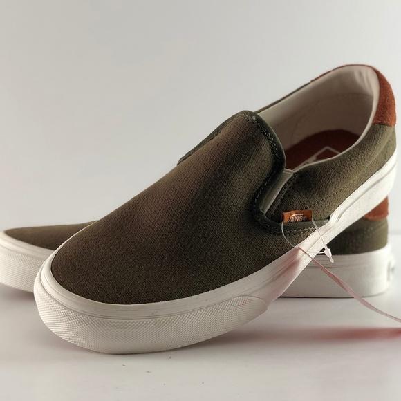 8a2ba50140 Vans Slip-on 59 Flannel Dusty Olive Skate Shoes